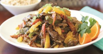Tangerine Beef Stir-Fry Recipe with Sweet Bell Peppers