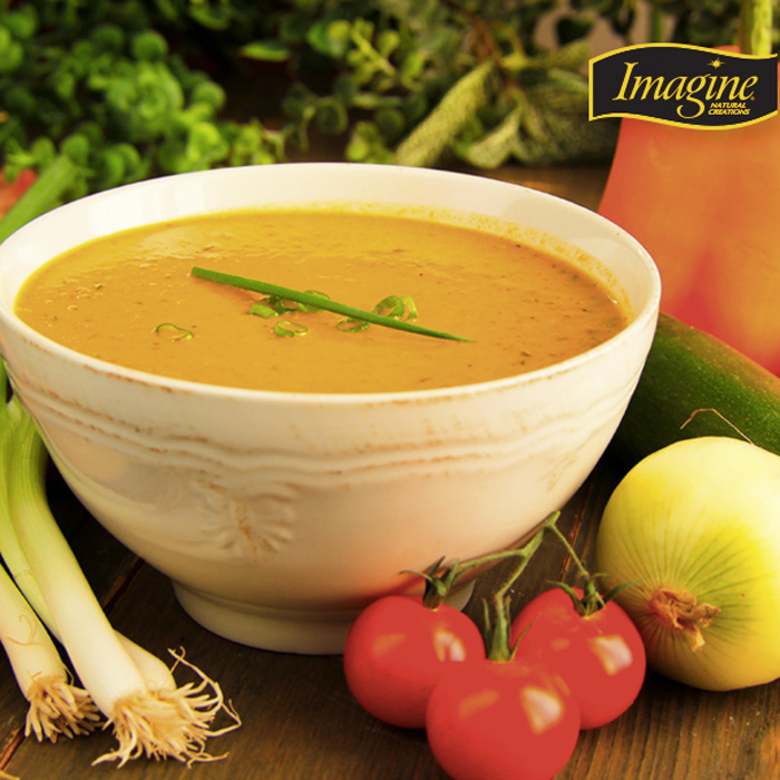Imagine Food Creamy Soups available in a variety of dairy-free flavors!