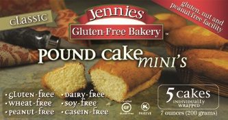 Jennie's Gluten-Free Pound Cake Mini's - Dairy-Free
