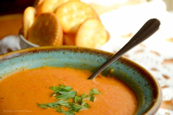 Vegan Spicy Red Bell Pepper Cream Soup Recipe