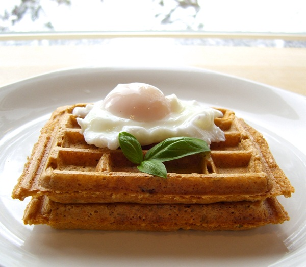 Dairy-Free and Gluten-Free Recipes - Sun-Dried Tomato Basil Waffles