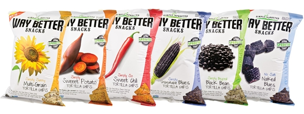 Way Better Snacks Simply Sprouted Tortilla Chips - Gluten-Free