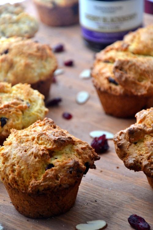 Orange Cranberry Oatmeal Muffins - Gluten-Free