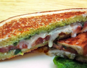 Go Veggie Caprese Vegan Grilled Cheese Sandwich