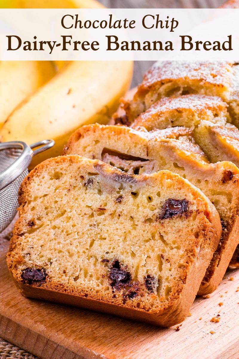 Dairy-Free Chocolate Chip Banana Bread Recipe