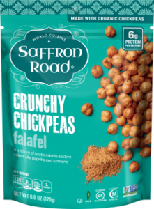 Saffron Road Crunchy Chickpeas Reviews and Info - dairy-free, gluten-free, vegan varieties - several flavors. Pictured: Falafel