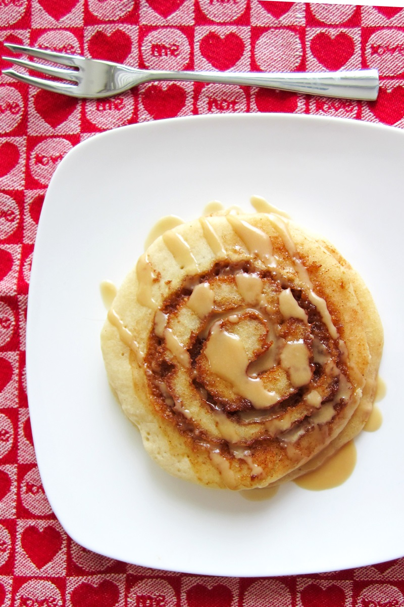 Dairy-Free Cinnamon Roll Pancakes Recipe with Maple Glaze, Gluten-Free and Vegan Options