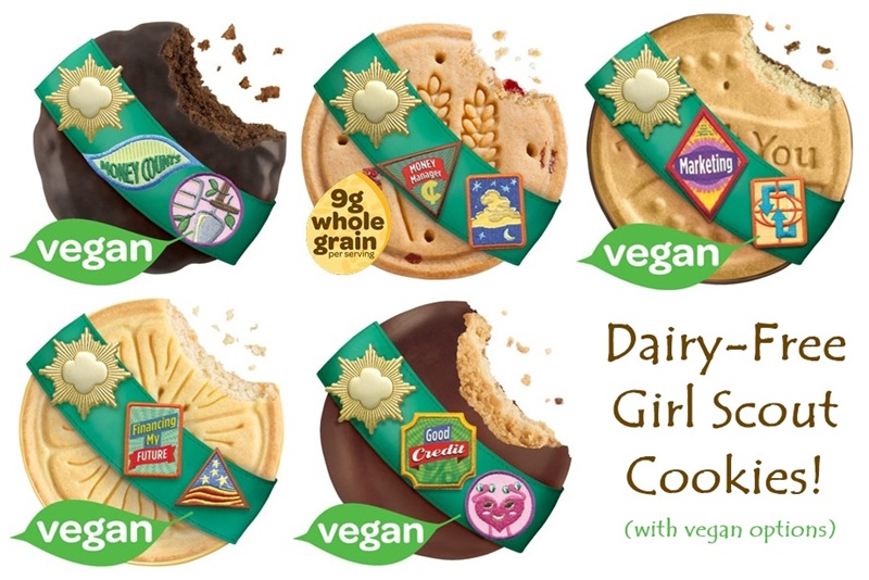 All Dairy-Free Girl Scout Cookies with Vegan Options!