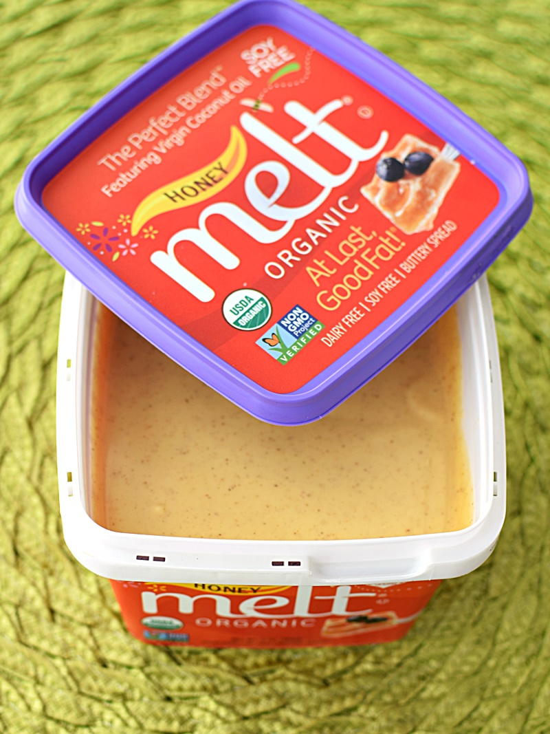 Melt Organic Buttery Spread (Honey & Cinnamon Flavor) - Amazing taste, virtuous ingredients, healthy Omega ratio, Certified Organic, Fair Trade, Dairy-Free, Soy-Free, etc, etc, etc