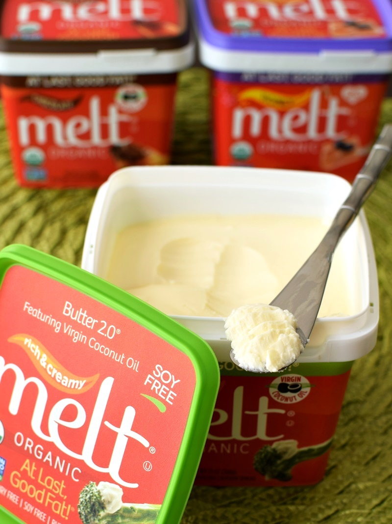 Melt Organic Buttery Spread - a soy-free, non-GMO dairy-free butter (Creamy Original pictured)
