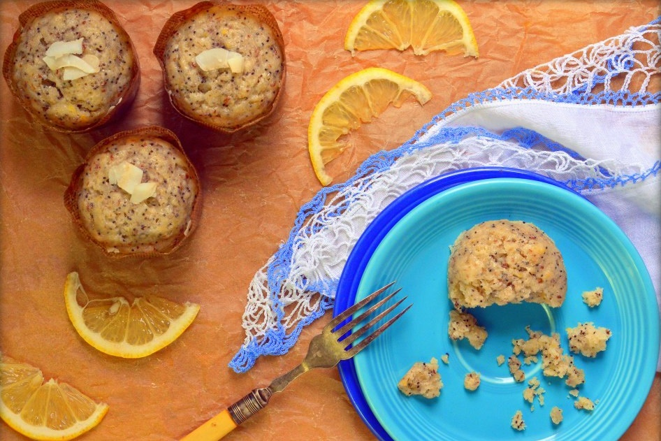 Vegan Lemon Poppyseed Muffins - so tender, you won't believe they're made without a drop of dairy or eggs!