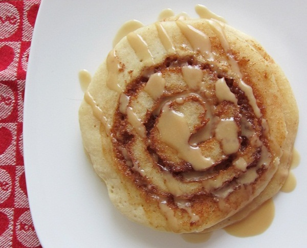Allergy-Friendly Cinnamon Roll Pancakes