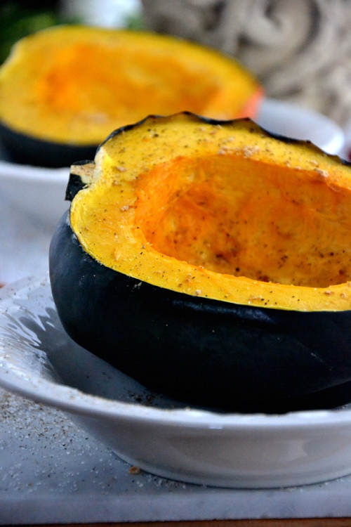Healthy Baked Honey Squash Recipe w/ Green Tea