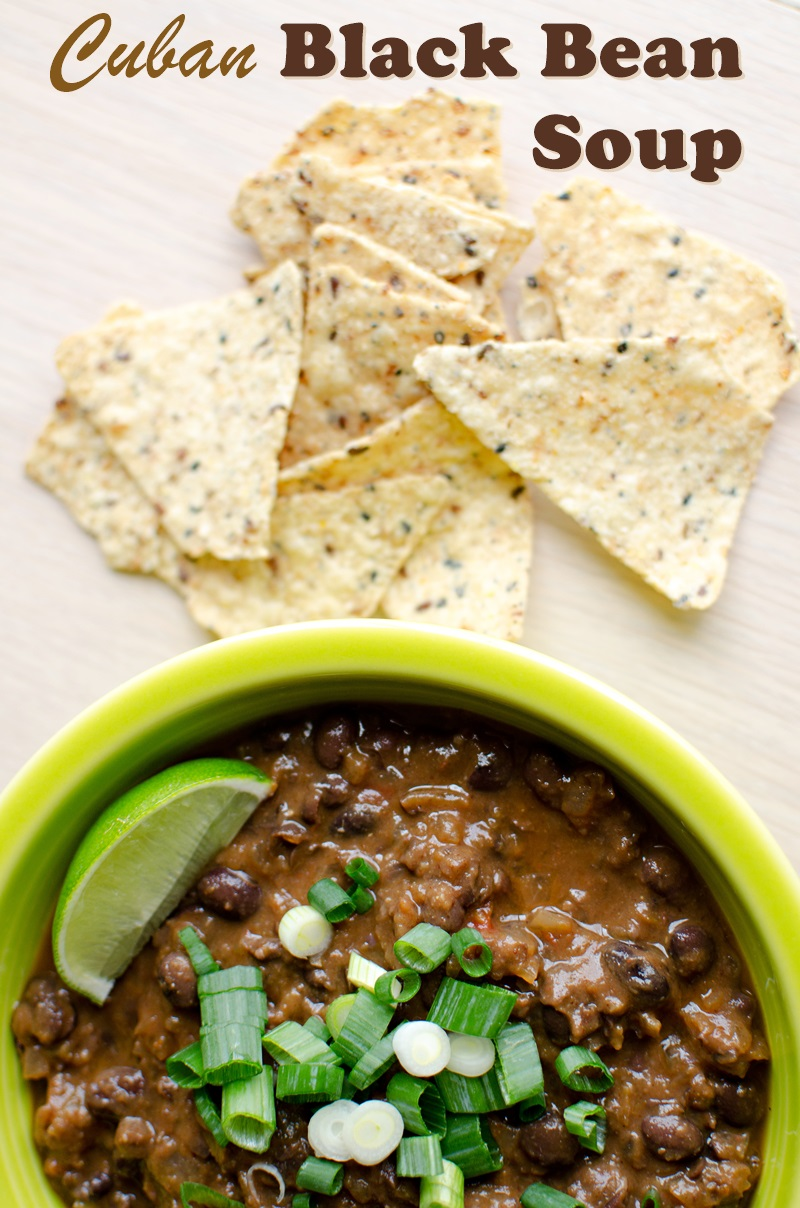 Vegan Cuban Black Bean Soup Recipe