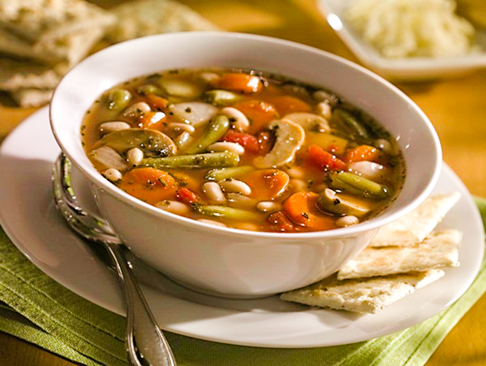 """Ten Minute Vegetable Pantry Soup Recipe - a """"from-scratch"""" soup with canned goods. Plant-based, gluten-free, dairy-free, allergy-friendly."""