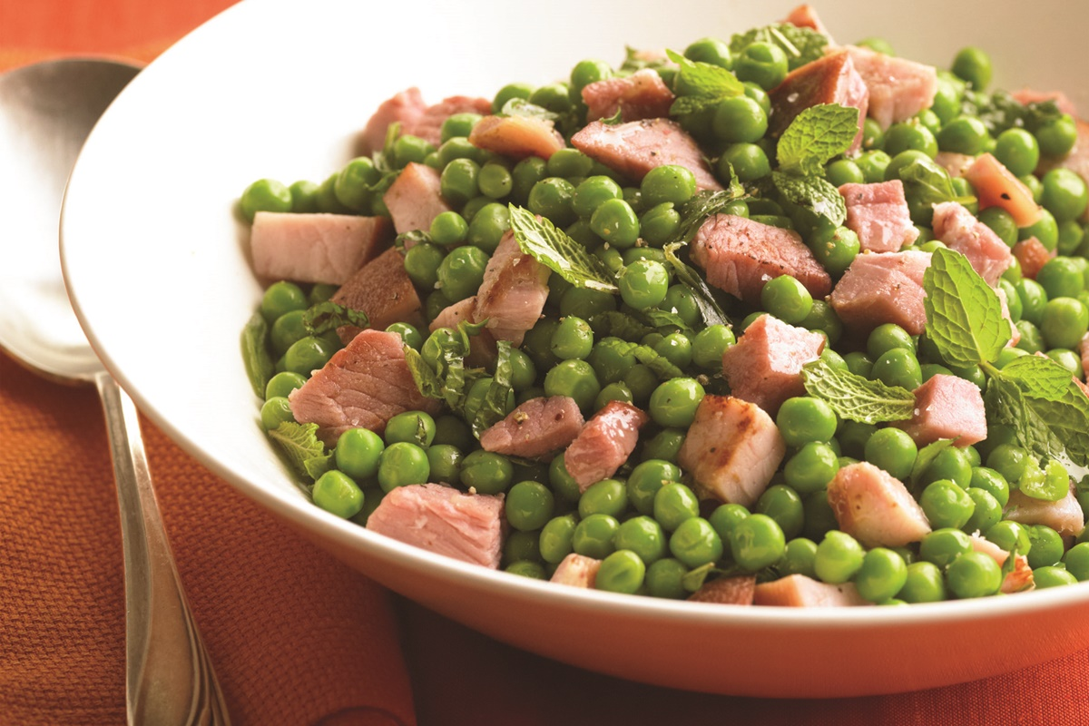 Spring Peas with Ham and Herbs Recipe (dairy-free, gluten-free, and allergy-friendly)