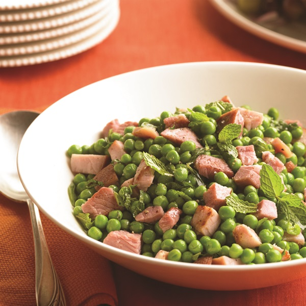 Fresh Herb Peas with Ham Recipe