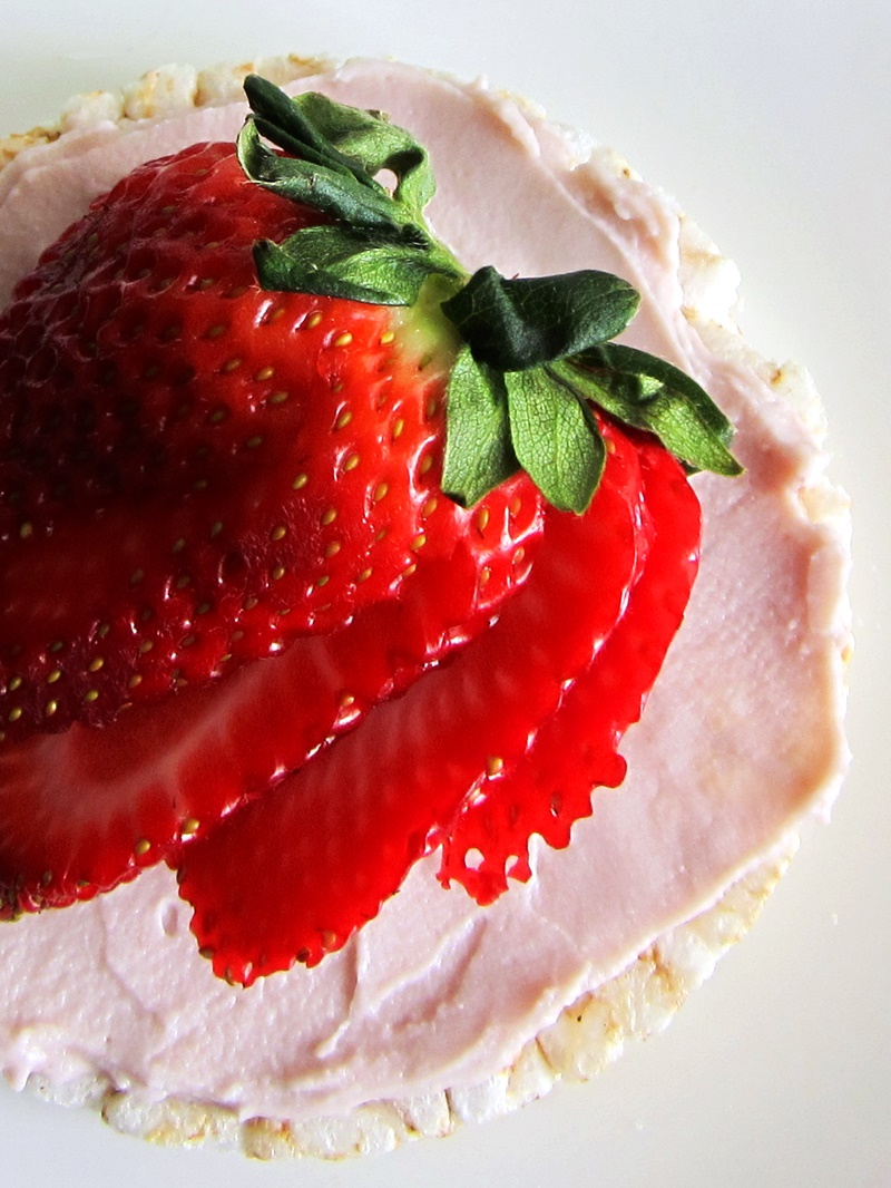 Go Veggie! Dairy-Free Cream Cheese Alternatives (the purple package!) - 3 vegan varieties (Strawberry shown)