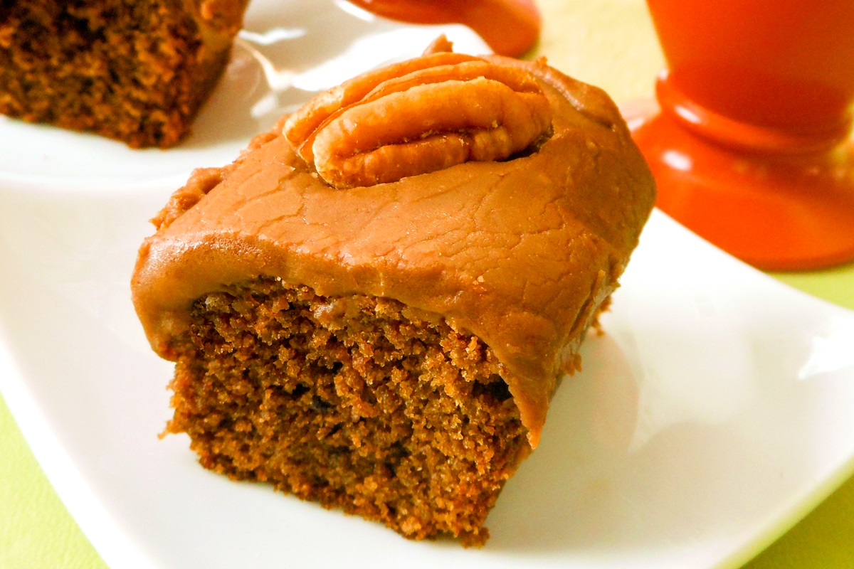 Wacky Cola Cake with Cola Fudge Frosting Recipe - dairy-free, egg-free, vegan friendly - can use Coca-Cola or natural cola