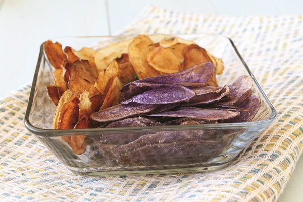 Homemade Baked Oven Potato Chips Recipe