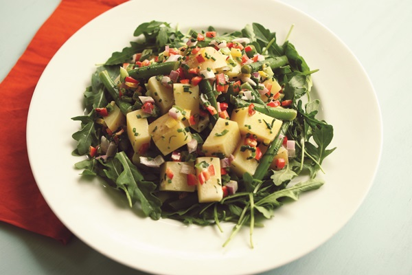 Green Bean Potato Salad with Creamy Lemon-Herb Dressing - Vegan & Gluten-free