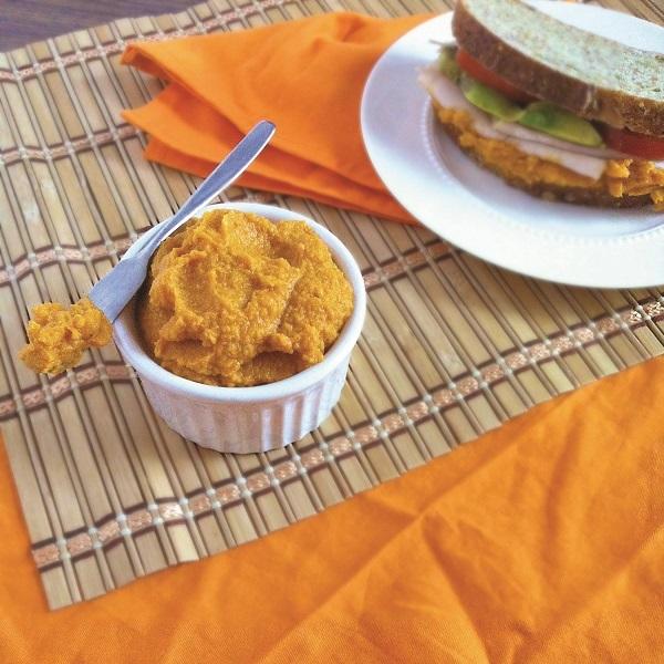 Savory Spiced Carrot Hummus Dip
