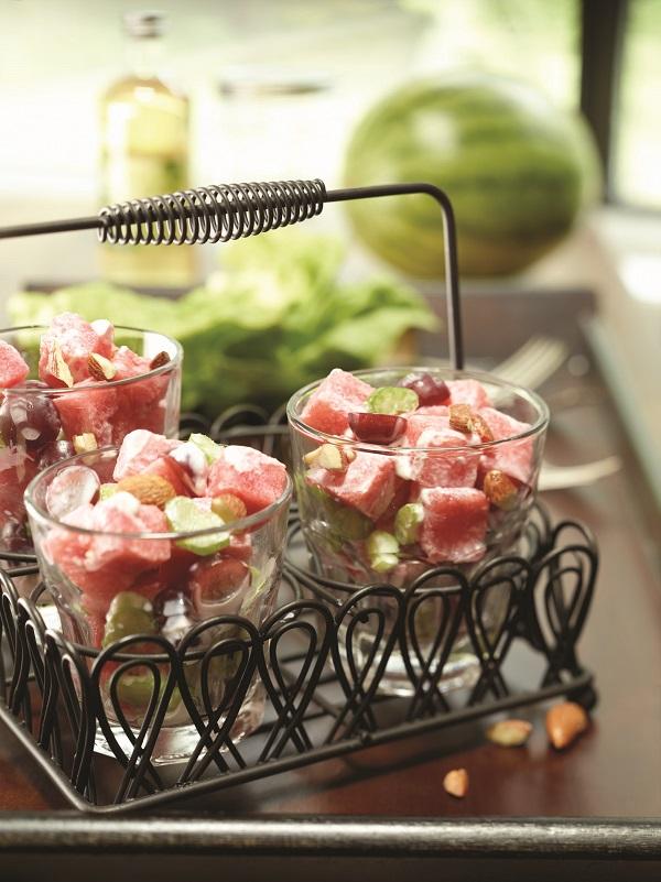 Wonderful Waldorf Watermelon Salad