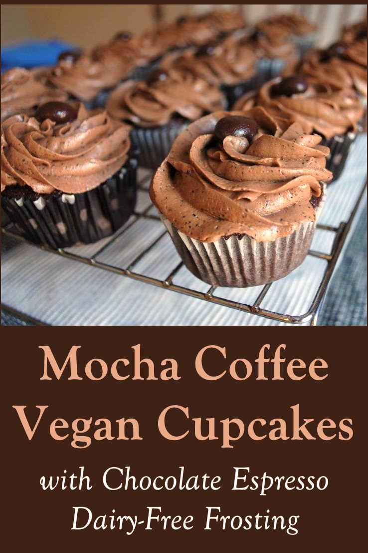 Vegan Mocha Coffee Cupcakes Recipe with Dairy-Free Chocolate Espresso Icing
