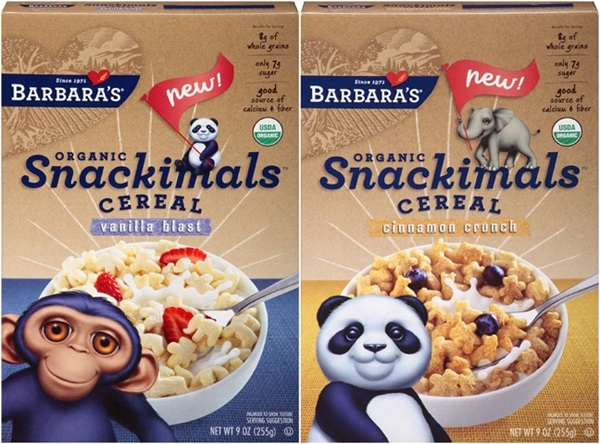 New Dairy-Free Products: Barbara's Snackimals Cereal