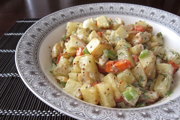 Creamy Roasted Potato Salad Recipe - Vegan