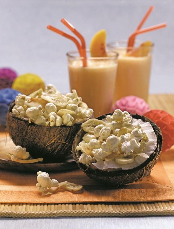 Coconut Monkey Popcorn Snack Mix Recipe