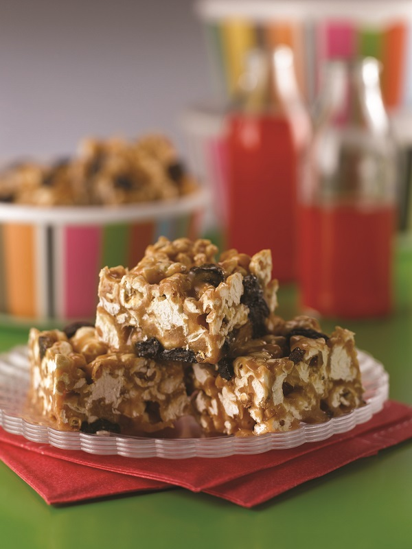 Sweet Peanut Butter Popcorn Bars