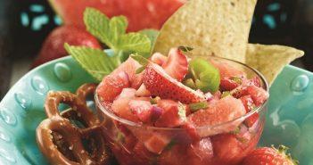 Strawberry Mint Watermelon Salsa Recipe