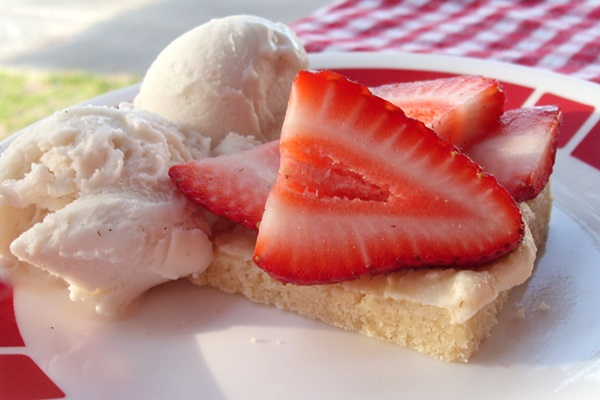 Strawberry Shortbread Bars - Dairy-Free and Vegan