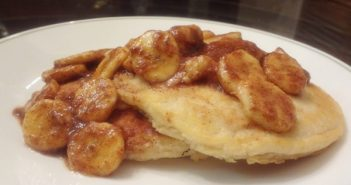 Vegan Pancake with Cinnamon Banana Syrup