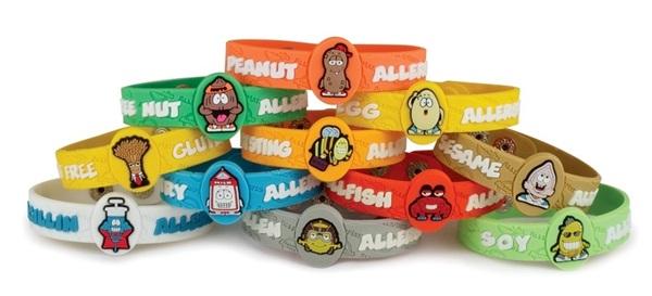 Allermates Food Allergy Wrist Bands