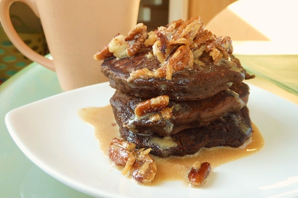 Vegan German Chocolate Pancakes Recipe