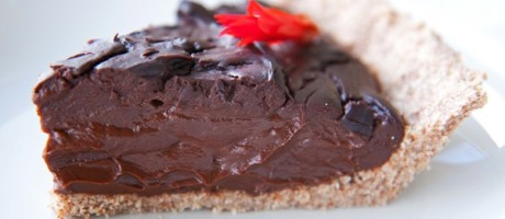 Mayan Dark Chocolate Pie