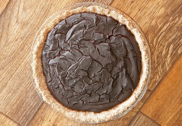 Mayan Dark Chocolate Pie: Vegan & Gluten-Free