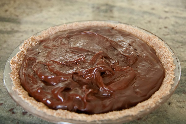 Mayan Dark Chocolate Pie: Vegan & Gluten-Free