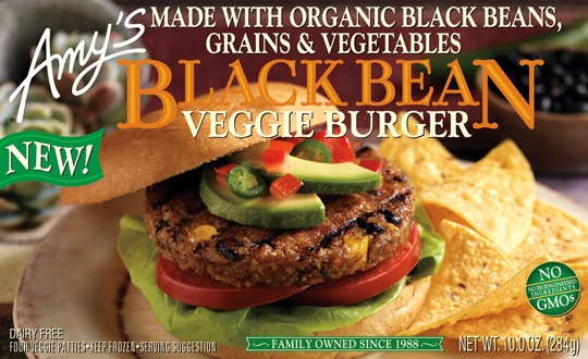 New Dairy-Free Products: Amy's Black Bean Veggie Burgers