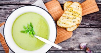 Creamy Vegan Asparagus Soup Recipe for Spring by the Cooking Cardiologist