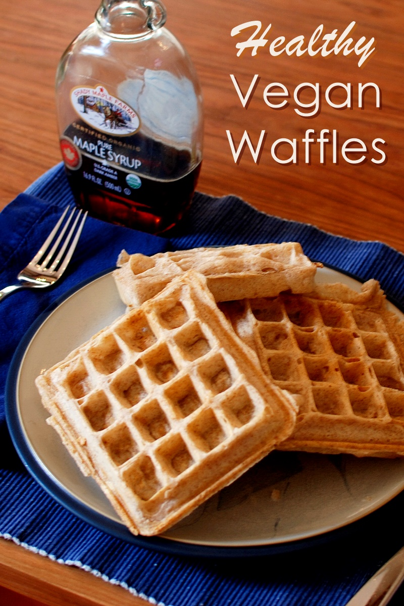 Healthy Vegan Morning Waffles Recipe (just 7 ingredients!)