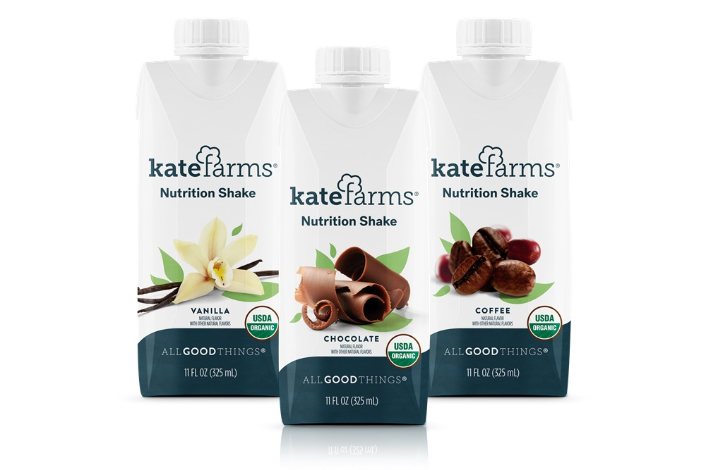 Kate Farms Nutrition Shakes Reviews & Info - dairy-free, gluten-free, top allergen-free, and vegan meal replacement shakes. Well balanced with nutrients, vitamins, and minerals.