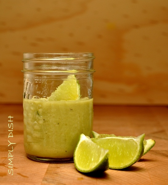 Creamy Dairy-Free Coconut Lime Dressing with Avocado