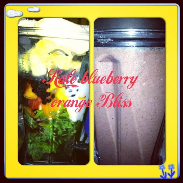 Kale blueberry Orange Bliss Smoothie