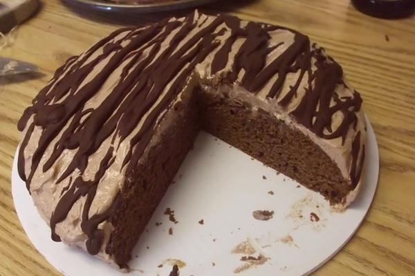 Vegan Mocha Almond Fudge Melted Ice Cream Cake