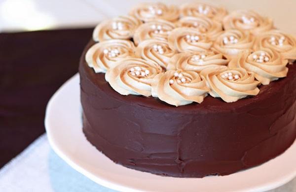 Gluten-Free, Vegan Mocha Layer Cake by Sarah Bakes Gluten Free