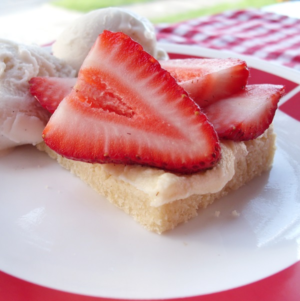 Strawberry Shortbread Bars - Vegan, Dairy-Free
