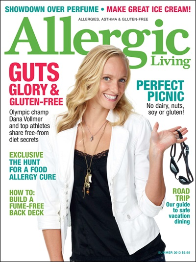 Allergic Living  Summer 2013 Cover